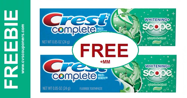 FREE Crest Products CVS Deal 10-27-11-2