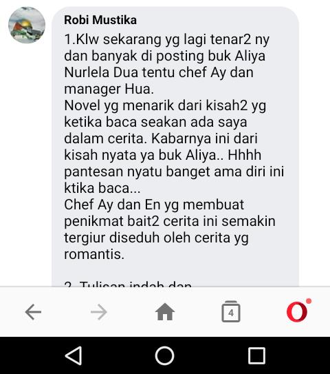 Testimoni Robi Mustika (Padang) Tentang Tokoh Novel dan Sosok Novelis Aliya Nurlela