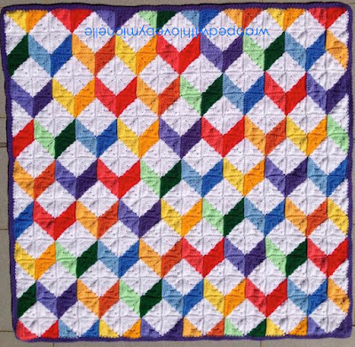 PATTERN: Tumbling Blocks Baby Afghan