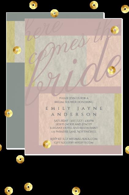 pastel wedding invitations script modern