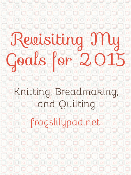 Goals Revisited: A look back at this year's goals and how they came along. frogslilypad.net