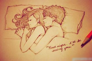 Hình ảnh chúc ngủ ngon hài hước lãng mạn về tình yêu
