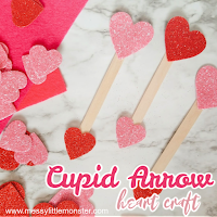 cupid arrow heart craft - Valentines day craft for kids.