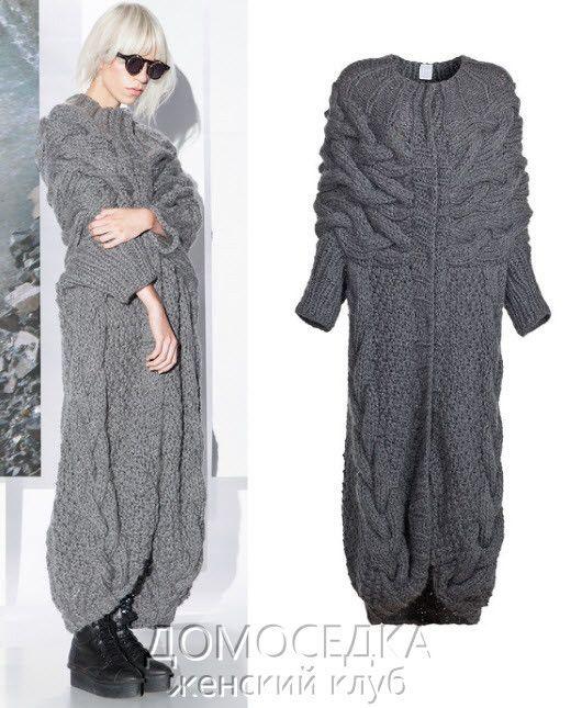 płaszcz na drutach
