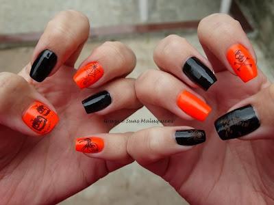 Unhas de Halloween - Grazi e Suas Maluquices