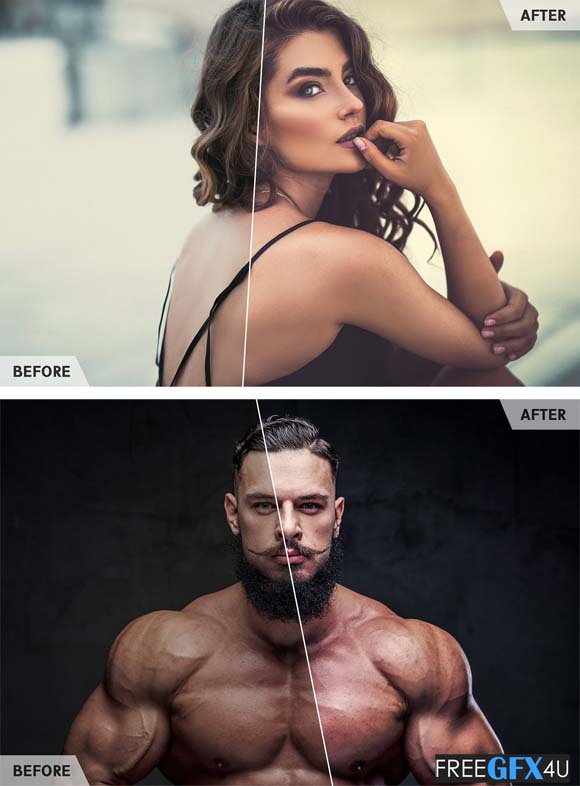 50 Portrait Retouch Lightroom Presets