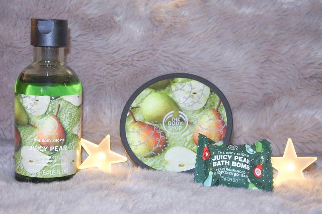 La gamme Juicy Pear de The Body Shop