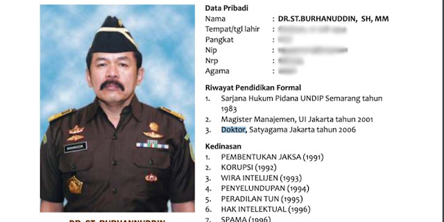 Penggelapan Informasi Ijazah, Jaksa Agung Layak Direshuffle