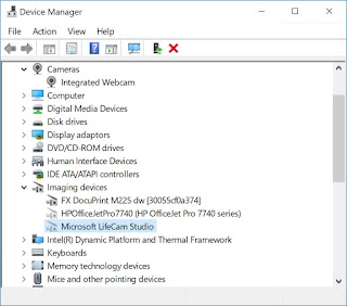 Device Manager showing Imaging devices node
