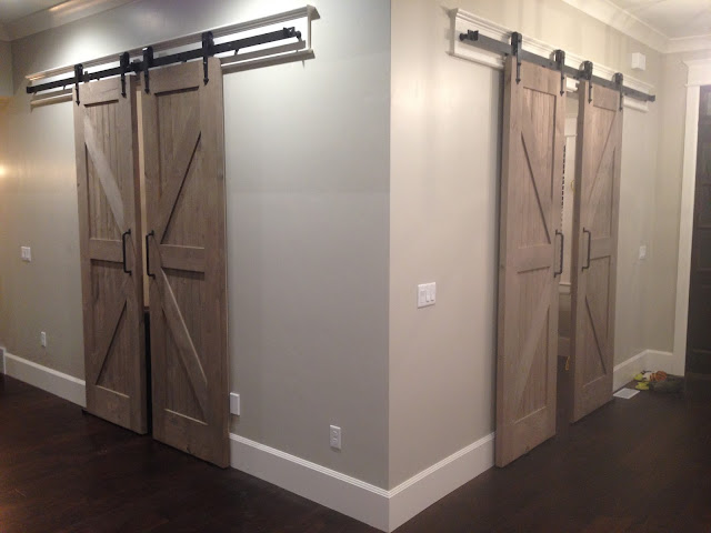 Barnwood-Looking, Home Depot Barndoors with Weatherwood