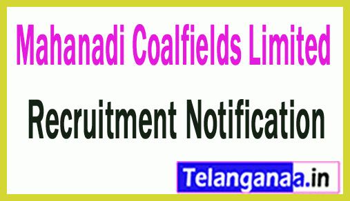 Mahanadi Coalfields Limited MCL Recruitment Notification