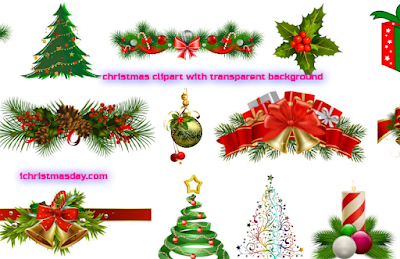 christmas clipart with transparent background