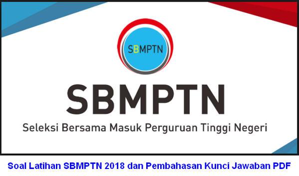 Soal Latihan SBMPTN 2018 dan Pembahasan Kunci Jawaban PDF