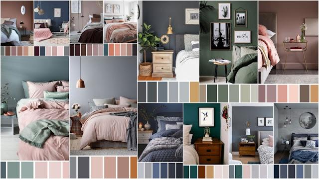 Συνδυασμοί χρωμάτων για τους τοίχους και τα έπιπλα της Κρεβατοκάμαρας