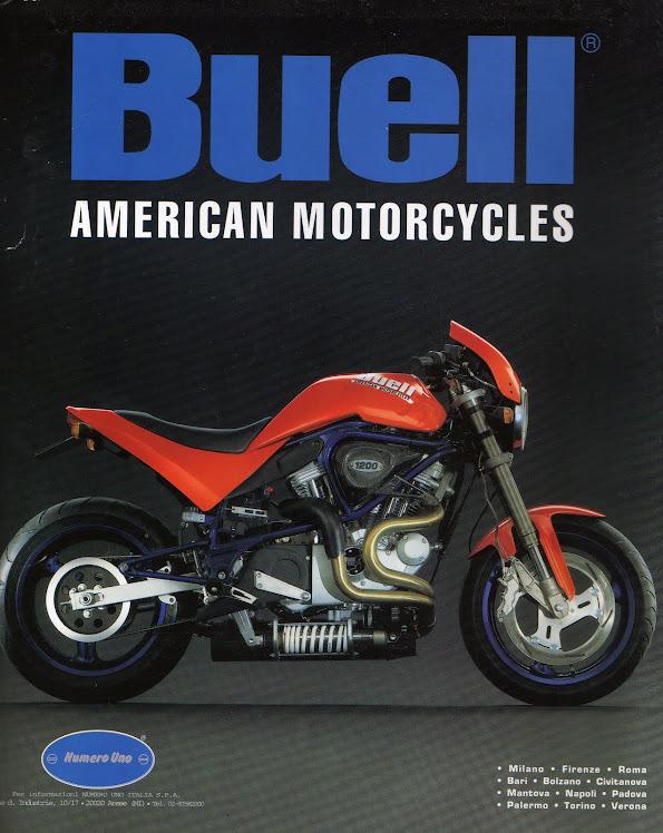 1998 Buell S1 Lightning 1200cc - Italian Print Advertisement