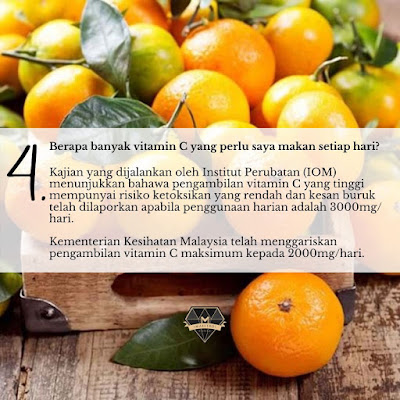 Vitamin C : Apa Yang Perlu Anda Tahu ?