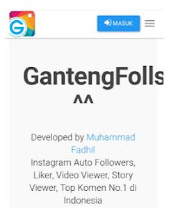 Gantengfools com situs penambah Followers di IG dengan gantengfollows com