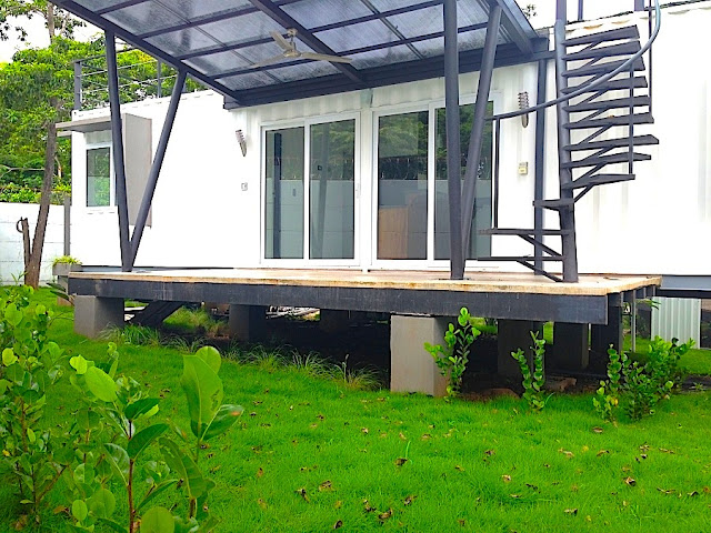 Artificial Green Roof + Deck Shipping Container Home, Costa Rica 2