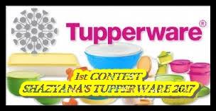 1st Contest Shazyana's Tupperware 2017