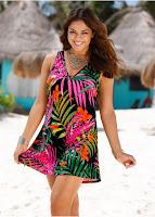Rochie de plajă cu imprimeu tropical (bonprix)