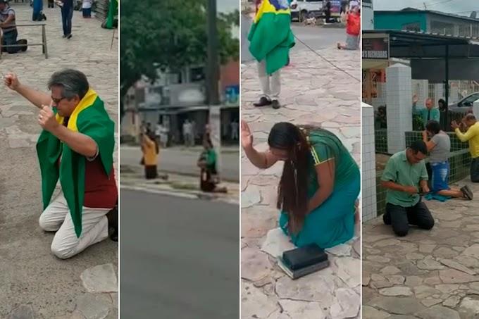 Assembleianos se ajoelham nas ruas e clamam pelo Brasil em meio à pandemia