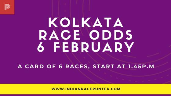 Kolkata Race Odds 6 February