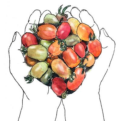 cherry tomatoes by Yukié Matsushita