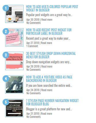 9 Best Recent Post Widget For Blogger Blog - Wonder Krish | Blogger