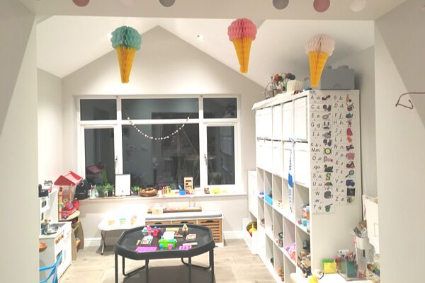 ice cream parlour playroom roleplay set up