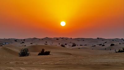 HD wallpaper Sunset, desert, dunes, sand