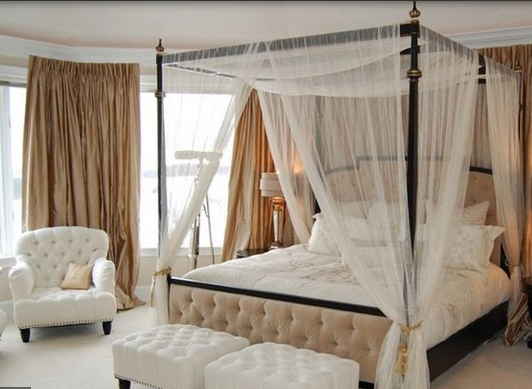 Dreamy and Romantic Full Draped Canopy Beds 1