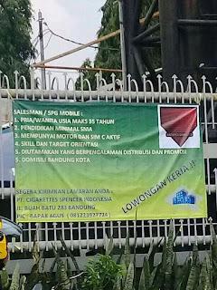 Lowongan Kerja Daerah Buah Batu Bandung di PT Cigarettes Spencer Indonesia 2020