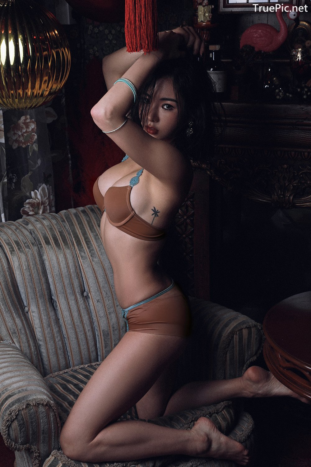 Image-An-Seo-Rin-Brown-and-Red-Lingerie-Korean-Model-Fashion-TruePic.net- Picture-7