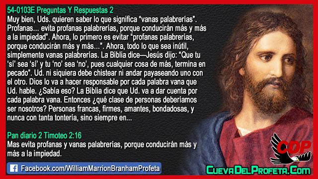Usted va a dar cuenta por cada palabra vana - William Branham en Español