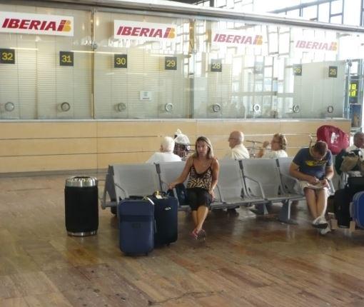 all'aeroporto di Barcellona El Prat