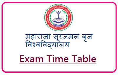MSBU Bharatpur Time Table 2020