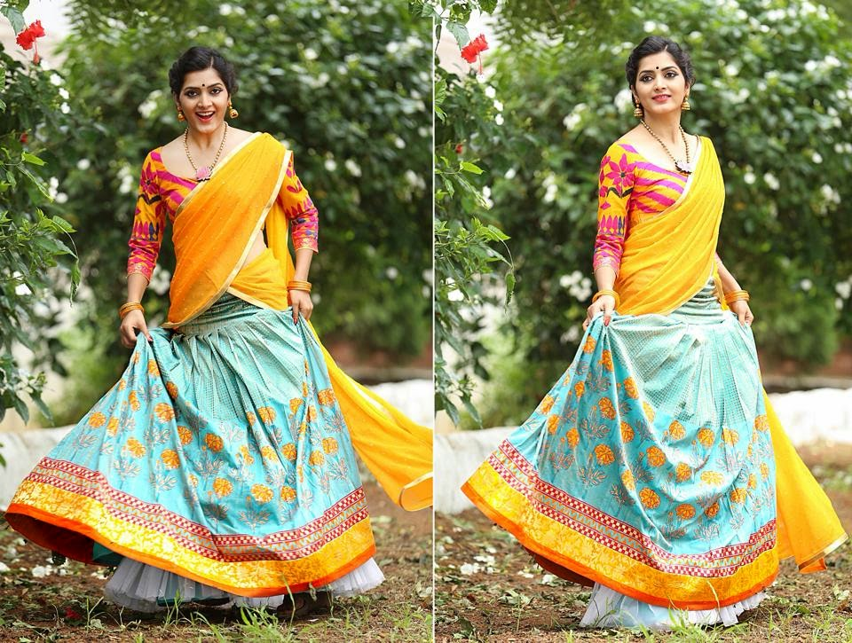 Bollywood Actress Saree Collections: Bhargavi Kunam