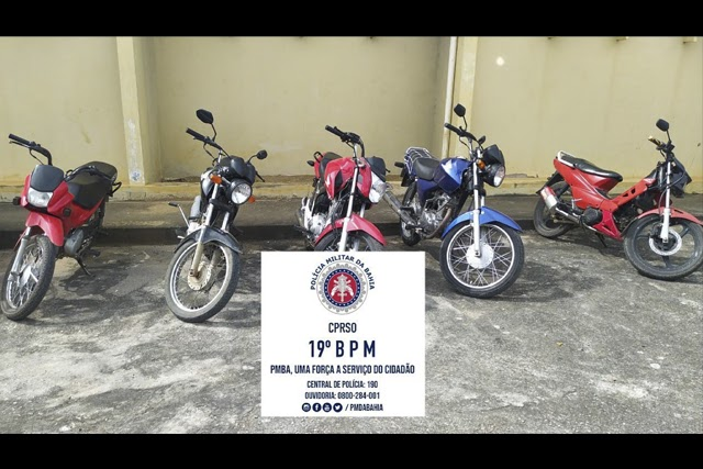 Operação da Polícia Militar apreende motocicletas com escapamentos adulterado