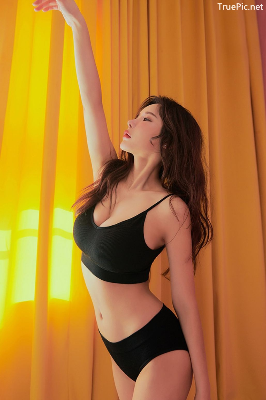 Image Korean Fashion Model - Lee A Yoon - Good Night Top Bra - TruePic.net - Picture-2