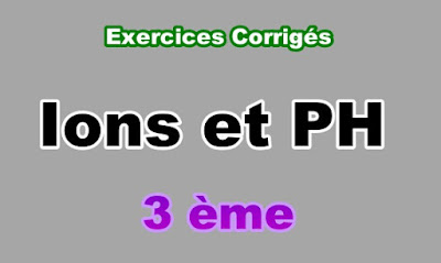 Exercices Corrigés Ions et PH 3eme en PDF