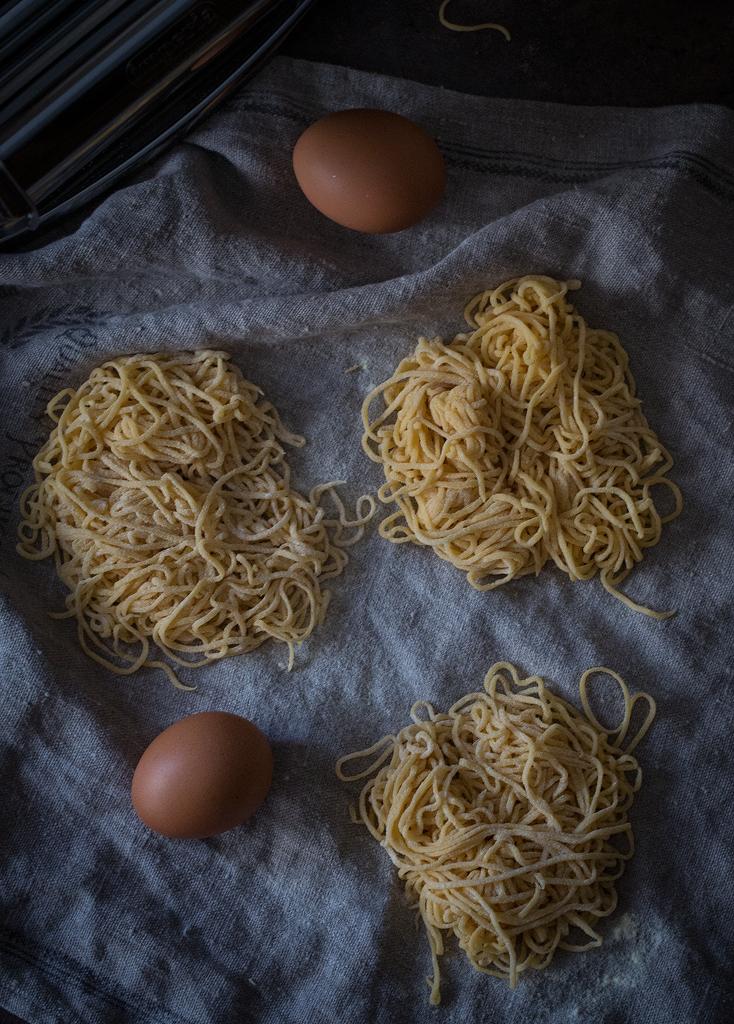 pasta casera con huevo