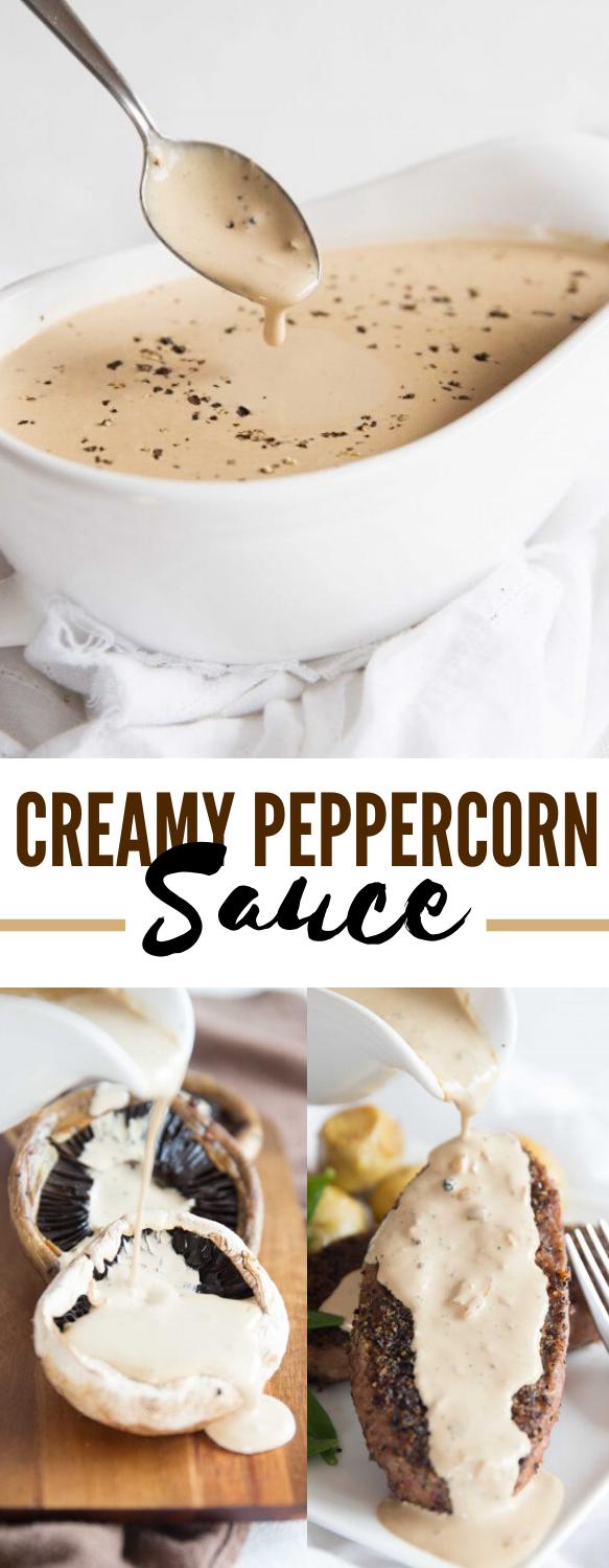 Creamy Peppercorn Sauce #dinner #dressing
