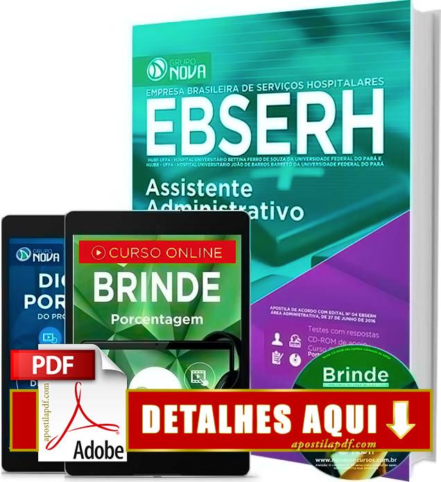Apostila EBSERH PA 2016 Assistente Administrativo Impressa