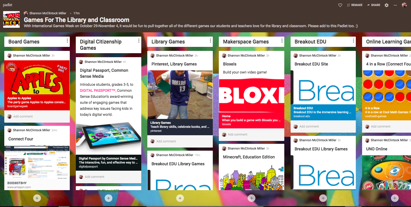 The Library Voice Games For The Library And Classroom