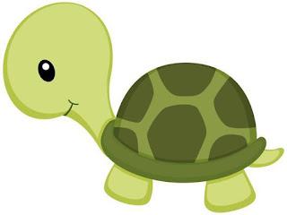 Animales tiernos para imprimir tortuga