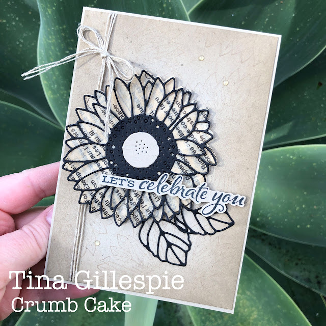scissorspapercard, Stampin' Up!, Colour Creations, Celebrate Sunflowers, Peaceful Moments, Sunflower Dies