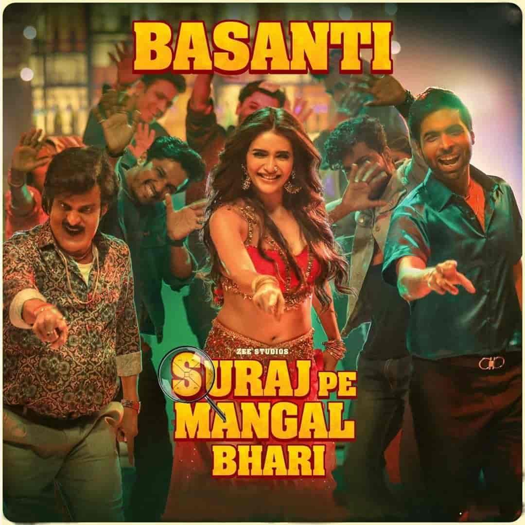 Basanti Dance Hindi Song Image Features Karishma Tanna From Movie Suraj Pe Mangal Bhari
