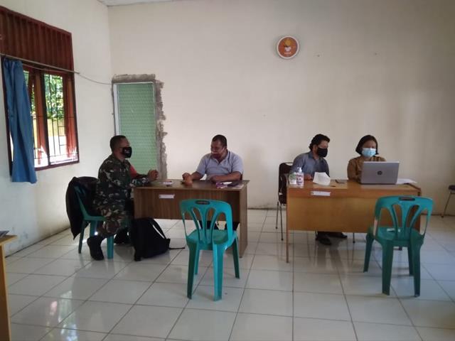 Jalin Silaturahmi Dengan Lurah, Personel Jajaran Kodim 0207/Simalungun Laksanakan Komsos