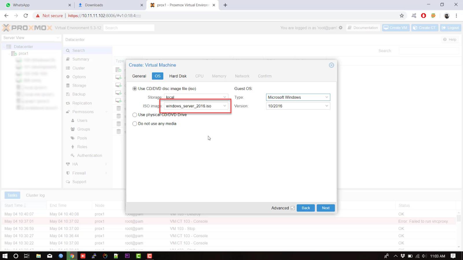 Create VM Proxmox | Windows Server - Technotes id