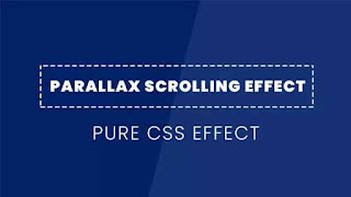 How to Create a Simple Parallax Scrolling Effect using css